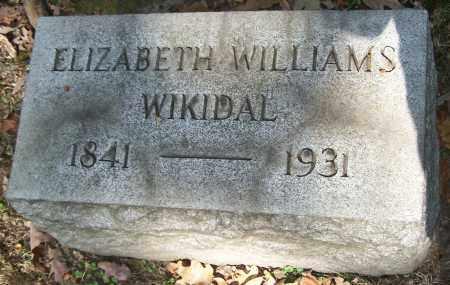 WIKIDAL, ELIZABETH WILLIAMS - Stark County, Ohio | ELIZABETH WILLIAMS WIKIDAL - Ohio Gravestone Photos