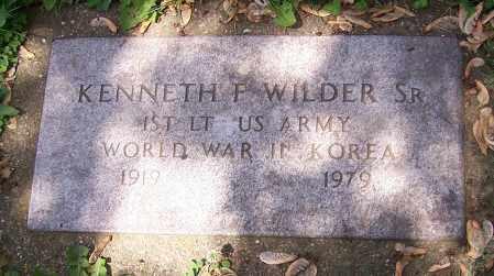 WILDER, KENNETH F. (SR)  (MIL) - Stark County, Ohio | KENNETH F. (SR)  (MIL) WILDER - Ohio Gravestone Photos