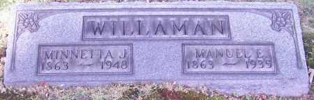 WILLAMAN, MINNETTA J. - Stark County, Ohio   MINNETTA J. WILLAMAN - Ohio Gravestone Photos