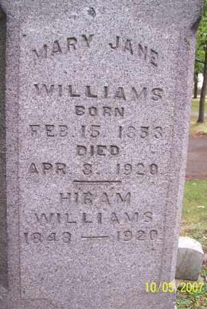 WILLIAMS, HIRAM - Stark County, Ohio | HIRAM WILLIAMS - Ohio Gravestone Photos