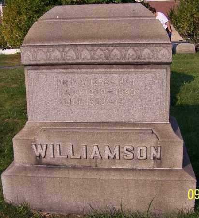 WILLIAMSON, ALICE - Stark County, Ohio | ALICE WILLIAMSON - Ohio Gravestone Photos