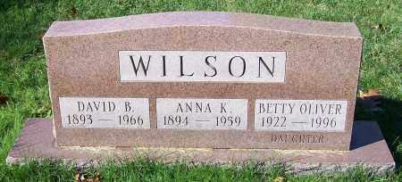 WILSON, BETTY OLIVER - Stark County, Ohio | BETTY OLIVER WILSON - Ohio Gravestone Photos