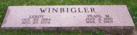 WINBIGLER, LEROY - Stark County, Ohio | LEROY WINBIGLER - Ohio Gravestone Photos