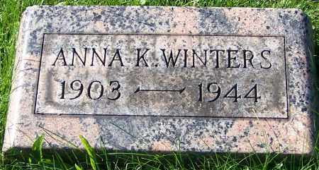 WINTERS, ANNA K. - Stark County, Ohio | ANNA K. WINTERS - Ohio Gravestone Photos