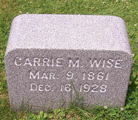 WISE, CARRIE M. - Stark County, Ohio | CARRIE M. WISE - Ohio Gravestone Photos