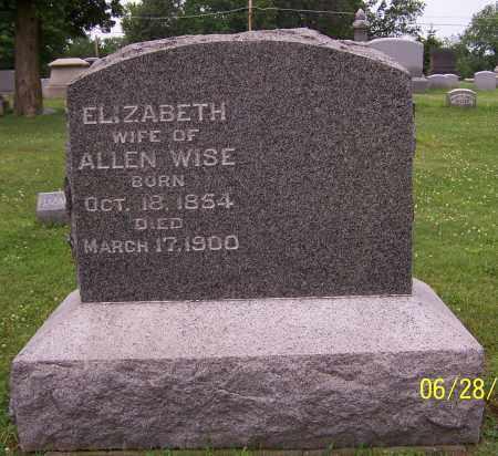WISE, ELIZABETH - Stark County, Ohio   ELIZABETH WISE - Ohio Gravestone Photos