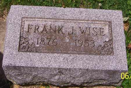 WISE, FRANK J. - Stark County, Ohio | FRANK J. WISE - Ohio Gravestone Photos