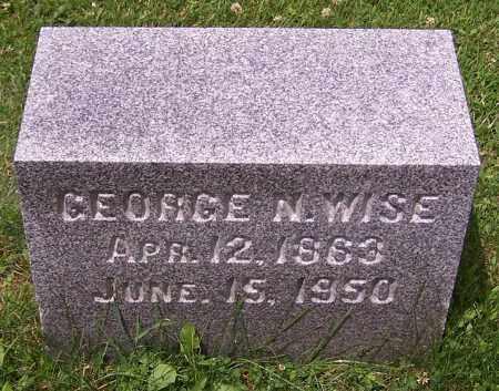WISE, GEORGE N. - Stark County, Ohio | GEORGE N. WISE - Ohio Gravestone Photos