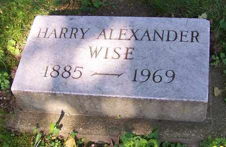 WISE, HARRY ALEXANDER - Stark County, Ohio | HARRY ALEXANDER WISE - Ohio Gravestone Photos