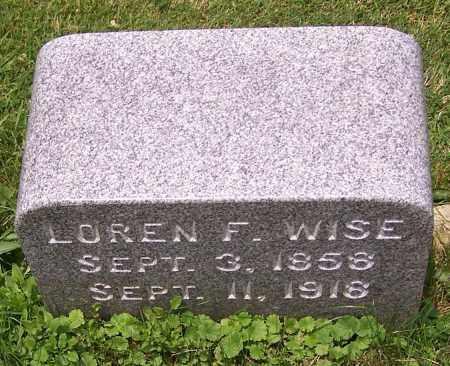 WISE, LOREN F. - Stark County, Ohio | LOREN F. WISE - Ohio Gravestone Photos
