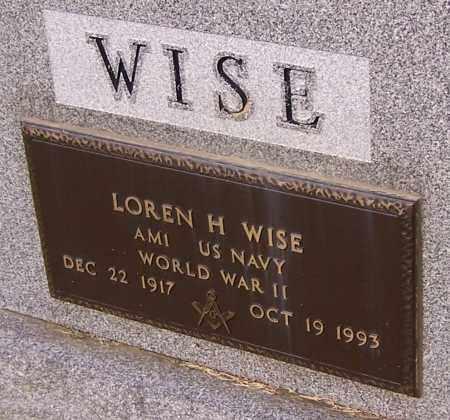 WISE, LOREN H.  (MIL) - Stark County, Ohio   LOREN H.  (MIL) WISE - Ohio Gravestone Photos