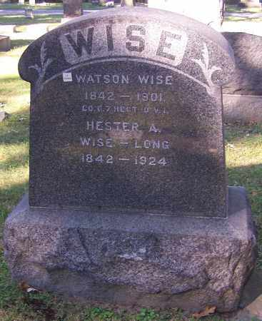 WISE, WATSON - Stark County, Ohio | WATSON WISE - Ohio Gravestone Photos