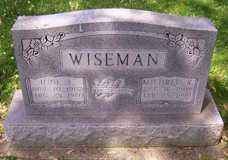 WISEMAN, JUNE E. - Stark County, Ohio | JUNE E. WISEMAN - Ohio Gravestone Photos