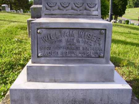WISER, WILLIAM - CLOSEVIEW - Stark County, Ohio   WILLIAM - CLOSEVIEW WISER - Ohio Gravestone Photos
