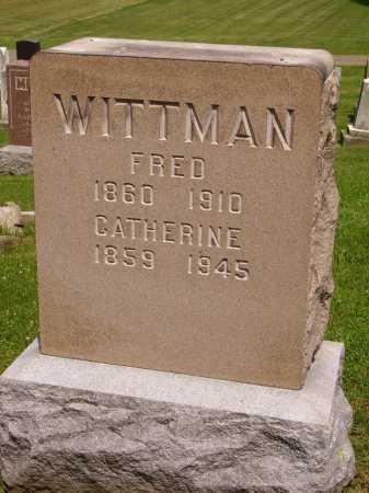BAUMAN WITTMAN, CATHERINE - Stark County, Ohio | CATHERINE BAUMAN WITTMAN - Ohio Gravestone Photos