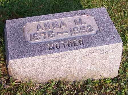 WITWER, ANNA M. - Stark County, Ohio | ANNA M. WITWER - Ohio Gravestone Photos