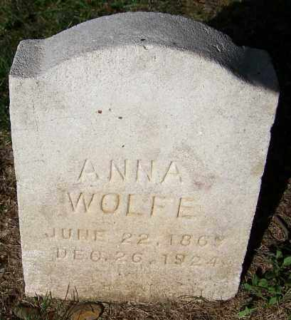 WOLFE, ANNA - Stark County, Ohio   ANNA WOLFE - Ohio Gravestone Photos