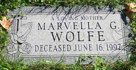 WOLFE, MARVELLA G. - Stark County, Ohio   MARVELLA G. WOLFE - Ohio Gravestone Photos