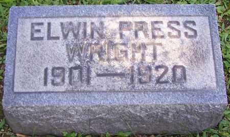 WRIGHT, ELWIN PRESS - Stark County, Ohio   ELWIN PRESS WRIGHT - Ohio Gravestone Photos