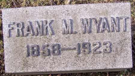 WYANT, FRANK M. - Stark County, Ohio | FRANK M. WYANT - Ohio Gravestone Photos
