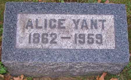 YANT, ALICE - Stark County, Ohio   ALICE YANT - Ohio Gravestone Photos