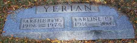 YERIAN, ARTHUR W. - Stark County, Ohio   ARTHUR W. YERIAN - Ohio Gravestone Photos
