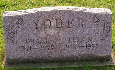 YODER, ORA G. - Stark County, Ohio   ORA G. YODER - Ohio Gravestone Photos