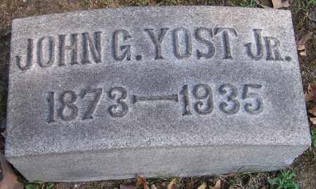 YOST, JOHN G. JR. - Stark County, Ohio | JOHN G. JR. YOST - Ohio Gravestone Photos