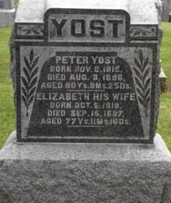 PAINTER YOST, ELIZABETH - Stark County, Ohio | ELIZABETH PAINTER YOST - Ohio Gravestone Photos