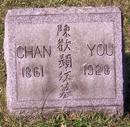 YOU, CHAN - Stark County, Ohio | CHAN YOU - Ohio Gravestone Photos