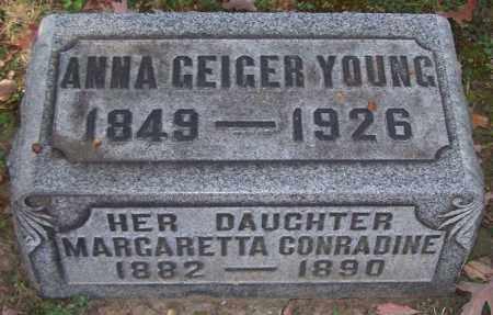 YOUNG, ANNA GEIGER - Stark County, Ohio | ANNA GEIGER YOUNG - Ohio Gravestone Photos
