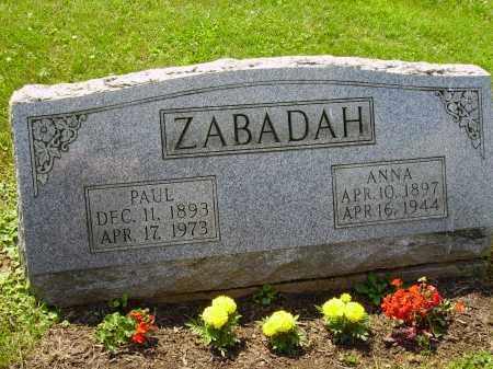 BORDA ZABADAH, ANNA - Stark County, Ohio | ANNA BORDA ZABADAH - Ohio Gravestone Photos