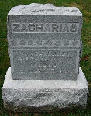 ZACHARIAS, H.A. - Stark County, Ohio | H.A. ZACHARIAS - Ohio Gravestone Photos