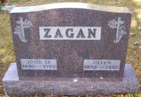 ZAGAN, HELEN - Stark County, Ohio | HELEN ZAGAN - Ohio Gravestone Photos