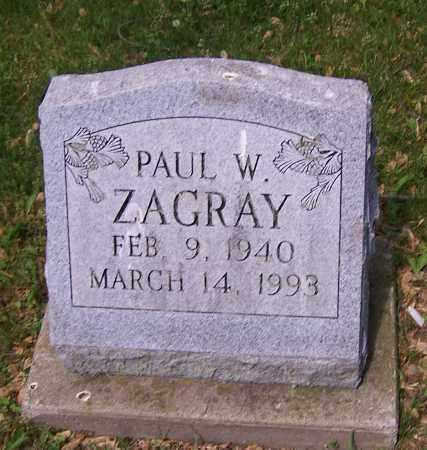 ZAGRAY, PAUL W. - Stark County, Ohio | PAUL W. ZAGRAY - Ohio Gravestone Photos
