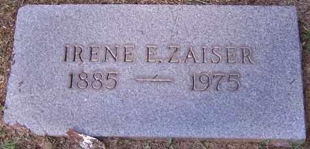 ZAISER, IRENE E. - Stark County, Ohio   IRENE E. ZAISER - Ohio Gravestone Photos