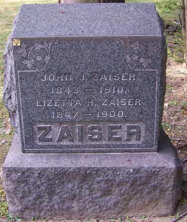 ZAISER, LIZETTA H. - Stark County, Ohio | LIZETTA H. ZAISER - Ohio Gravestone Photos