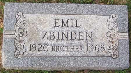 ZBINDEN, EMIL - Stark County, Ohio | EMIL ZBINDEN - Ohio Gravestone Photos