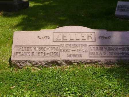 ZELLER, CHRISTINE - Stark County, Ohio | CHRISTINE ZELLER - Ohio Gravestone Photos