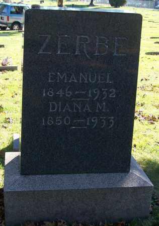 ZERBE, EMANUEL - Stark County, Ohio | EMANUEL ZERBE - Ohio Gravestone Photos