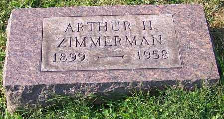 ZIMMERMAN, ARTHUR H. - Stark County, Ohio | ARTHUR H. ZIMMERMAN - Ohio Gravestone Photos