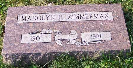 ZIMMERMAN, MADOLYN H. - Stark County, Ohio | MADOLYN H. ZIMMERMAN - Ohio Gravestone Photos