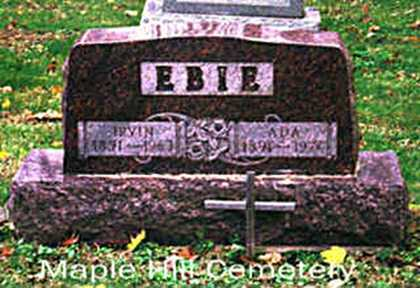 EBIE, ADA - Summit County, Ohio | ADA EBIE - Ohio Gravestone Photos