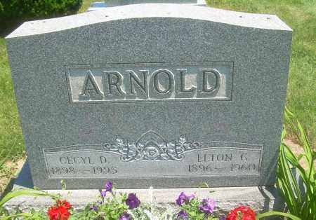 CARY ARNOLD, CECYL D - Summit County, Ohio | CECYL D CARY ARNOLD - Ohio Gravestone Photos
