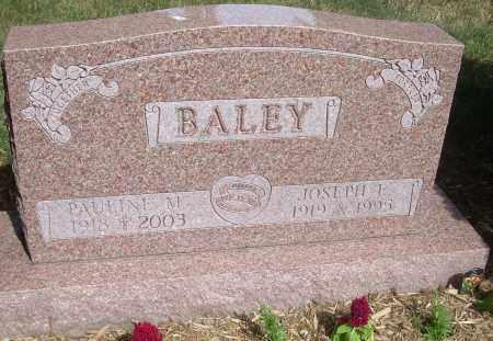 BALEY, JOSEPH E - Summit County, Ohio | JOSEPH E BALEY - Ohio Gravestone Photos