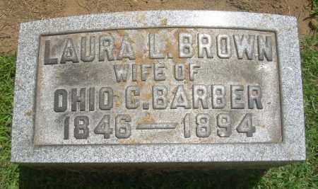 BROWN BARBER, LAURA L - Summit County, Ohio   LAURA L BROWN BARBER - Ohio Gravestone Photos