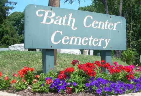 BATH CENTER, CEMETERY SIGN - Summit County, Ohio | CEMETERY SIGN BATH CENTER - Ohio Gravestone Photos