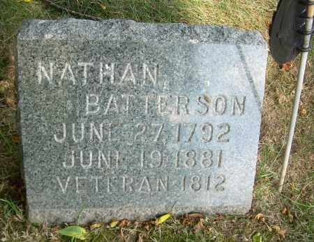 BATTERSON, NATHAN - Summit County, Ohio   NATHAN BATTERSON - Ohio Gravestone Photos