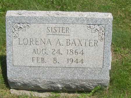 BAXTER, LORENA A - Summit County, Ohio   LORENA A BAXTER - Ohio Gravestone Photos