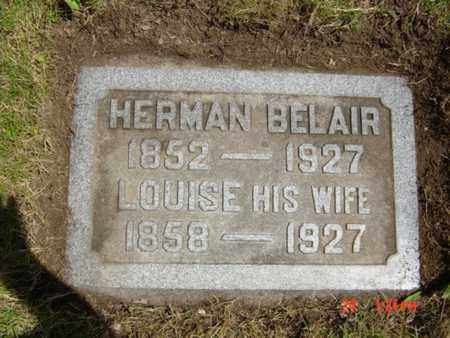BELAIR, HERMAN - Summit County, Ohio | HERMAN BELAIR - Ohio Gravestone Photos